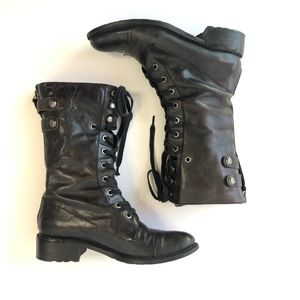 SAM EDELMAN Darwin Boot black hand distressed 7.5